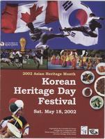 Korean Heritage Day Festival: 2002 Asian Heritage Month