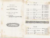 1985-1986학년도 밴쿠버 한국어 학교 학예회 / 1985-1986-hangnyŏndo Paenk'ubŏ Han'gugŏ hakkyo hagyehoe / [Draft Programme of] School Concert