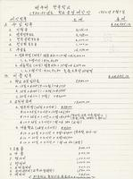 밴쿠버 한국학교 1982-83년도 학교 운영 예산안 / Paenk'ubŏ Han'guk Hakkyo 1982-83 Hakkyo Unyŏng Yesanan / [Budget Plan 1982-83, General Operation Budget of the Korean Language School of Vancouver]